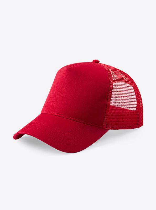 Trucker Cap Mit Logo Bedrucken Besticken Beechfield B640 Farbe Classic Red