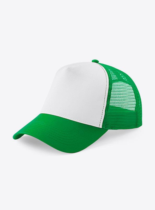 Trucker Cap Mit Logo Bedrucken Besticken Beechfield B640 Farbe Pure Green White