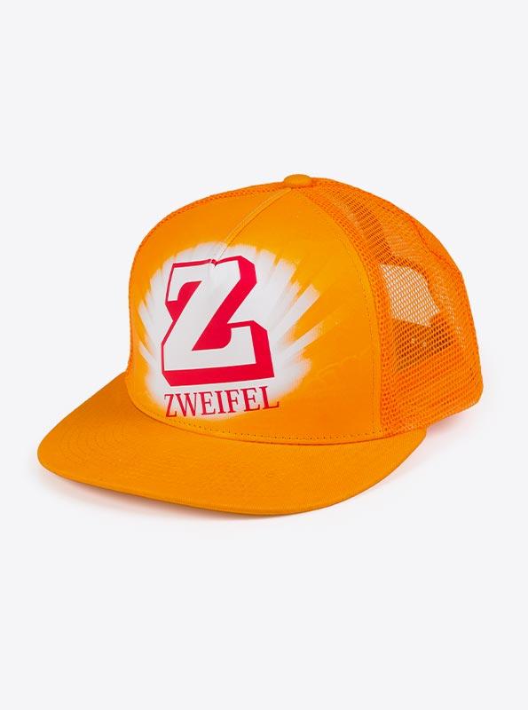 Trucker Cap Mit Logo Bedrucken Zweifel Orange