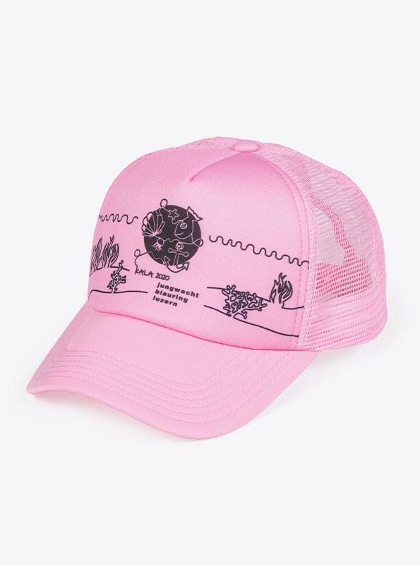 Truckercap Cap Mit Bedruckt Rosa Jungwachtblauring