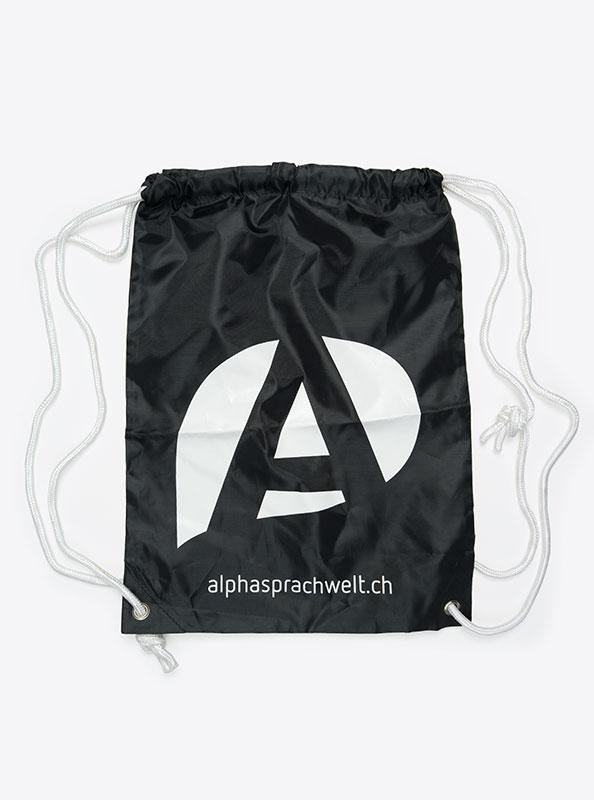 Turnbeutel Gym Bag Bedruckt Polyester Alphasprachwelt