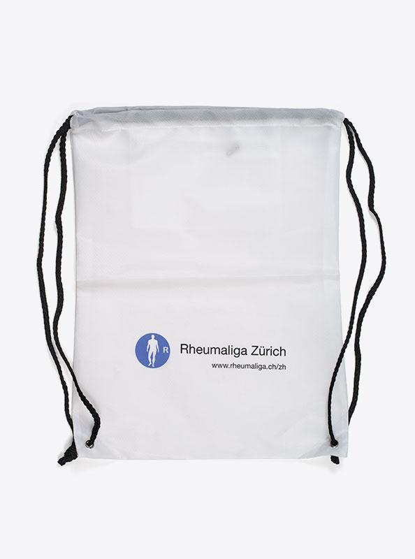 Turnbeutel Gym Bag Bedruckt Polyester Rheumaliga