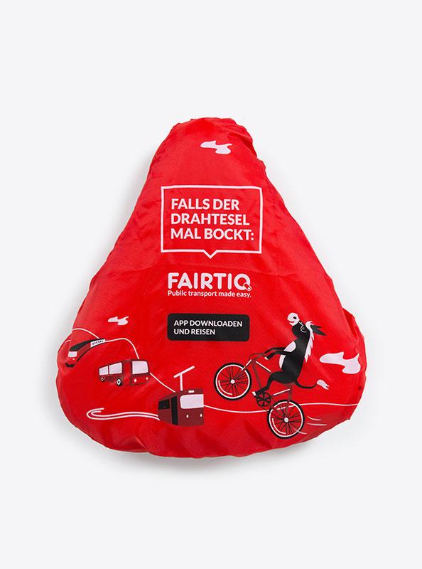 Velosattel Schutz Bedrucken Polyester Fairtiq
