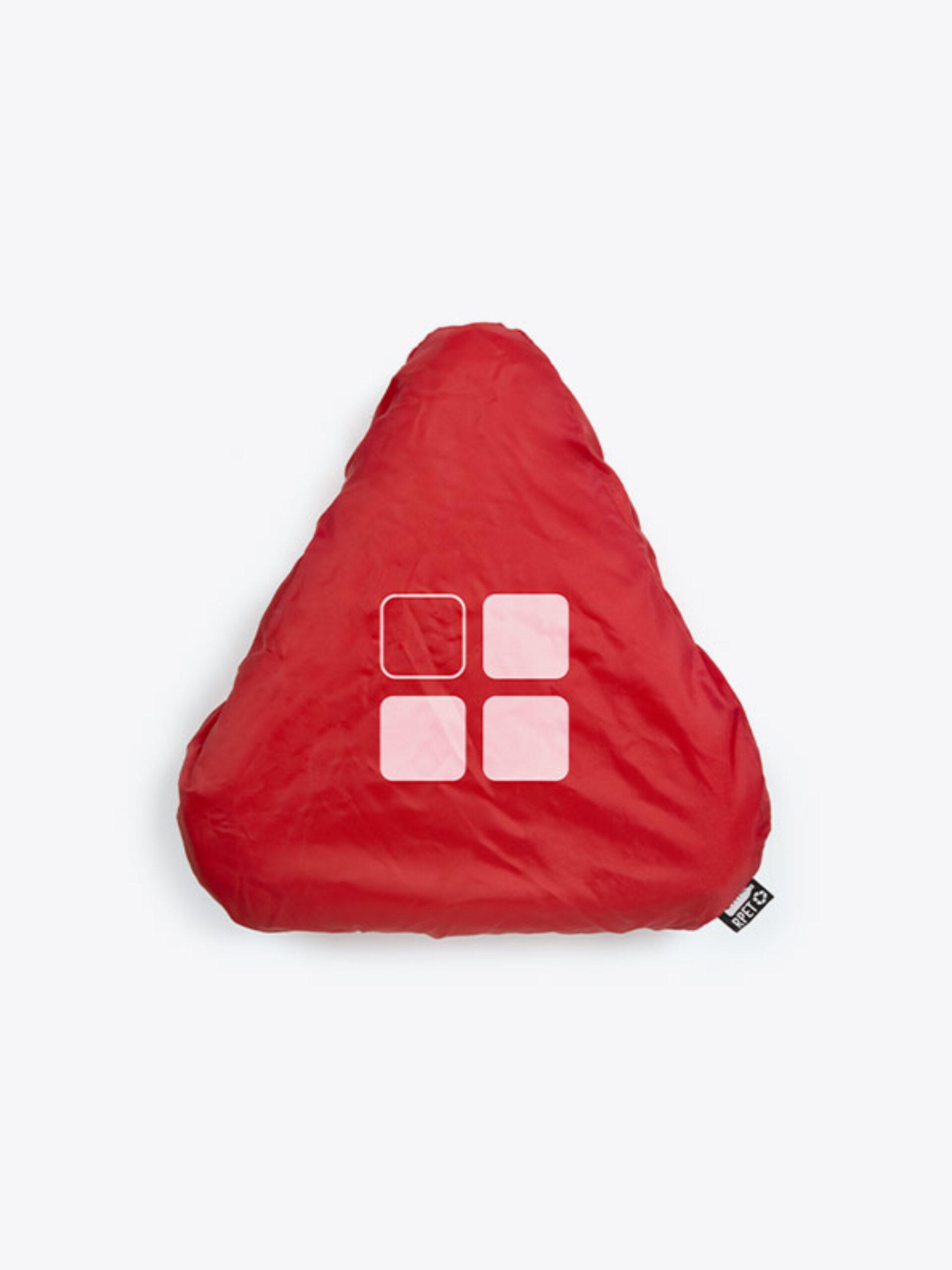 Velosattelueberzug Rpet Mit Logo Bedrucken Rot