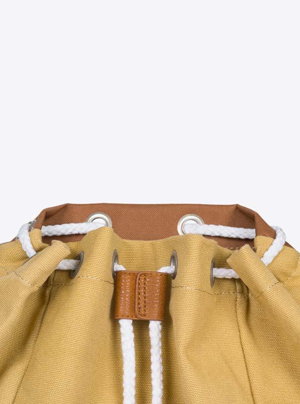 Vintage Rucksack Mit Logo Besticken Kordel