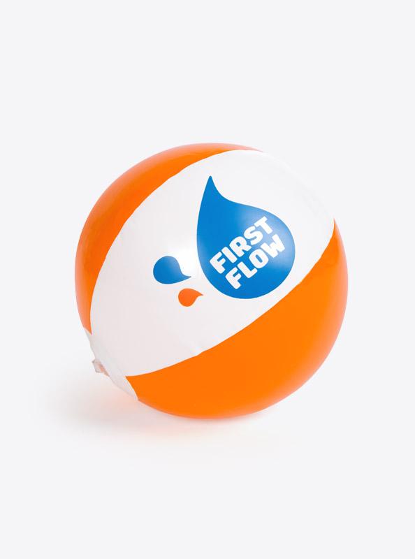 Wasserball Mit Logo Bedruckt First Flow