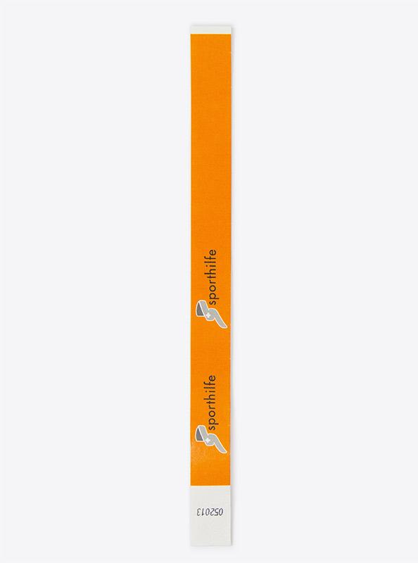 Werbeband Aus Papier Event Sporthilfe Orange