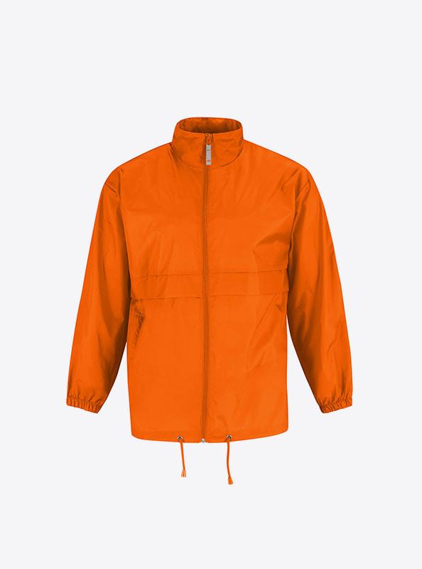 Windjacke Herren Mit Reissverschluss Mit Logo Besticken Bundc Sirocco Ju 800 Orange